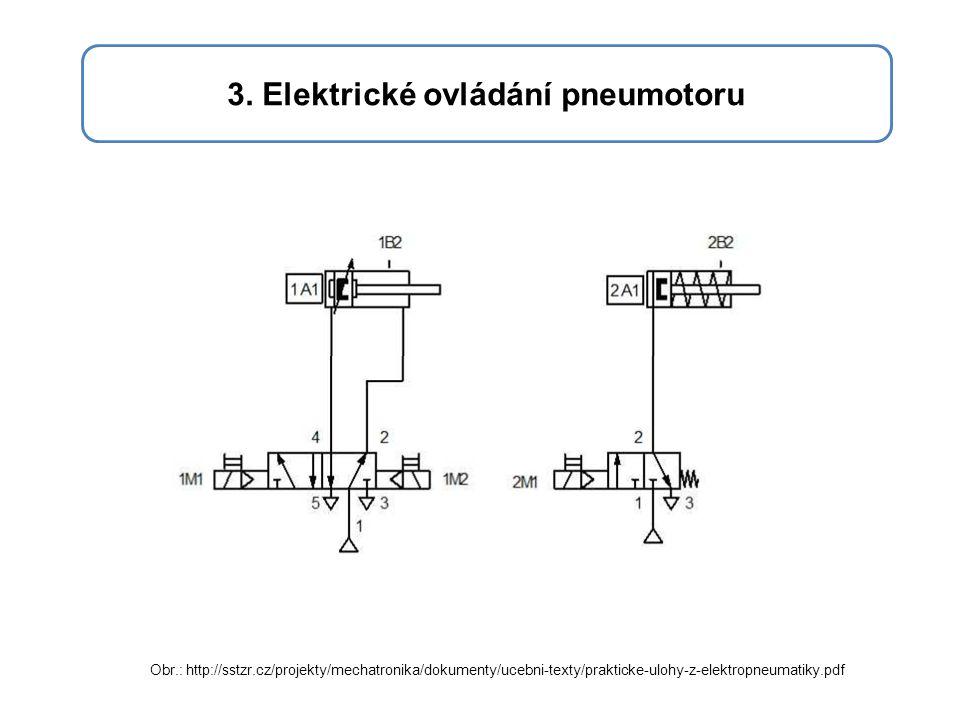 3. Elektrické ovládání pneumotoru Obr.: http://sstzr.cz/projekty/mechatronika/dokumenty/ucebni-texty/prakticke-ulohy-z-elektropneumatiky.pdf