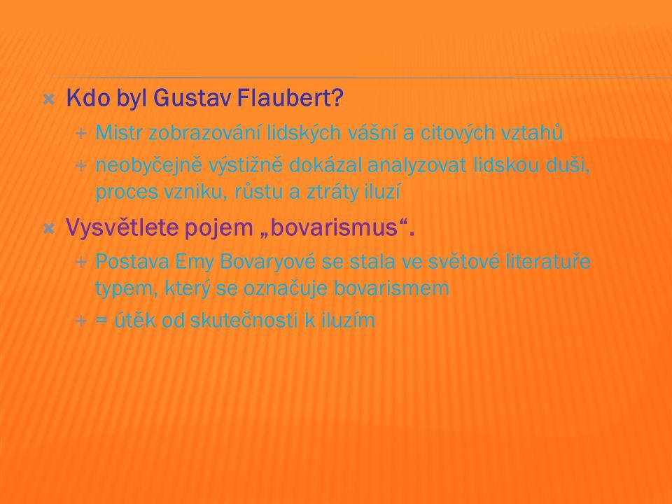  Kdo byl Gustav Flaubert.
