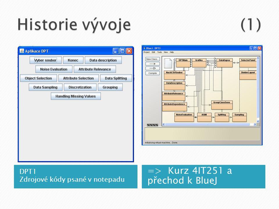 DPT1 Zdrojové kódy psané v notepadu => Kurz 4IT251 a přechod k BlueJ