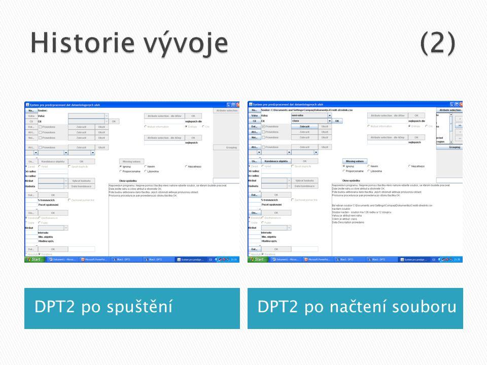 DPT2 po spuštěníDPT2 po načtení souboru