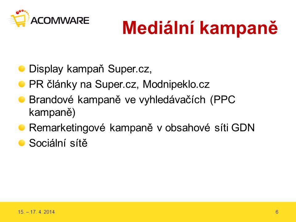 Mediální kampaně Display kampaň Super.cz, PR články na Super.cz, Modnipeklo.cz Brandové kampaně ve vyhledávačích (PPC kampaně) Remarketingové kampaně