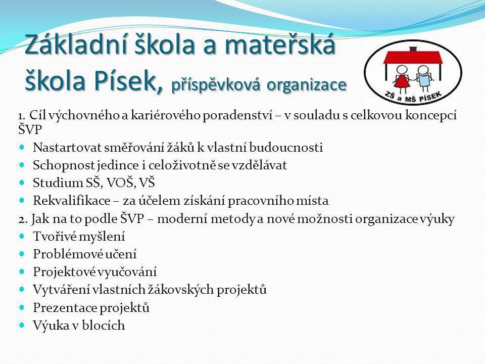 Základní škola a mateřská škola Písek, příspěvková organizace 1.