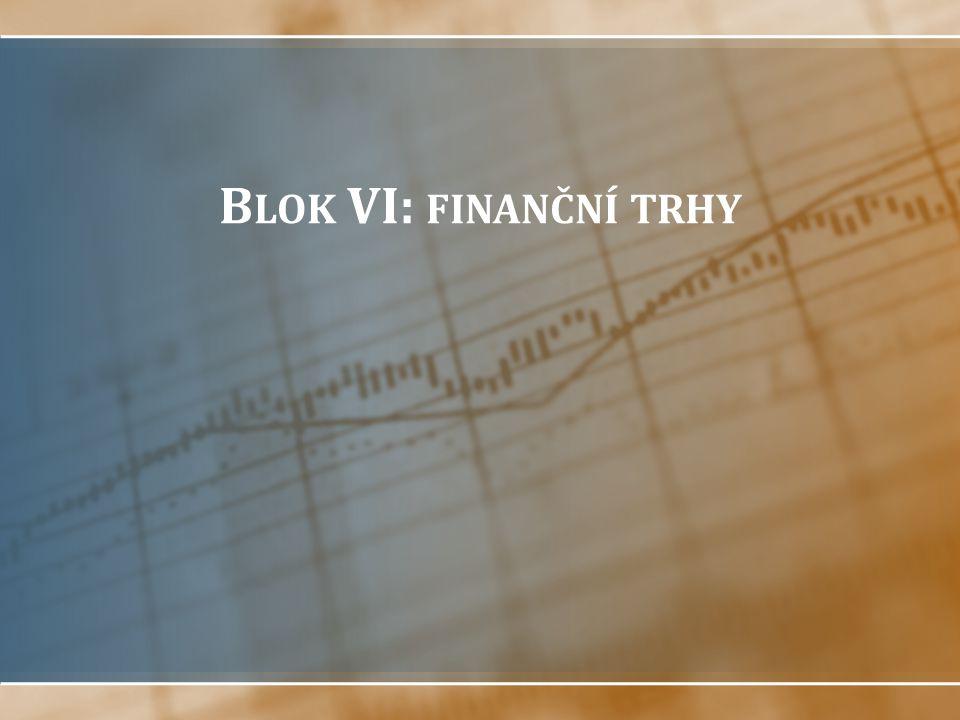 Struktura bloku Jak fungují finanční trhy? Dluhopisové trhy Akciové trhy