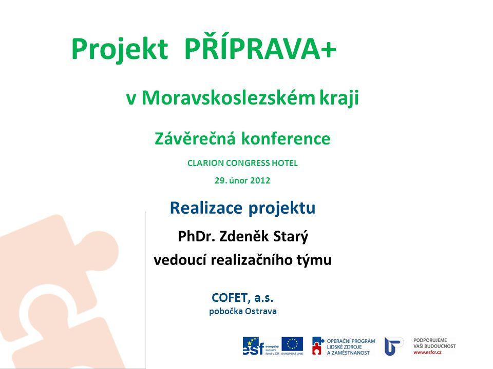 Realizátor projektu: Úřad práce ČR, Krajská pobočka v Ostravě Dodavatel služeb projektu: COFET, a.s.