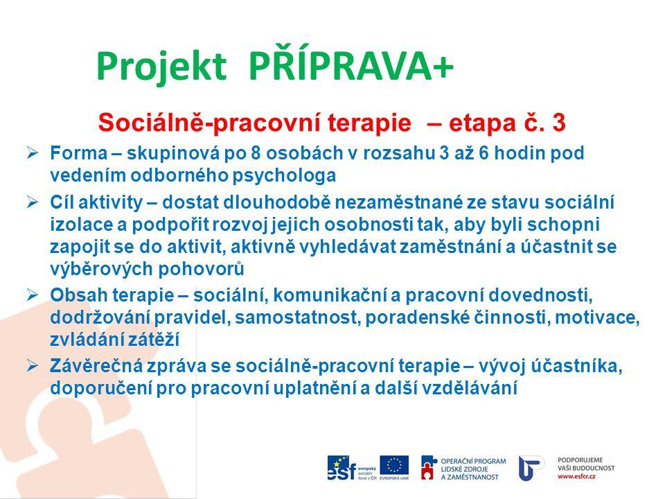 Sociálně-pracovní terapie – etapa č.