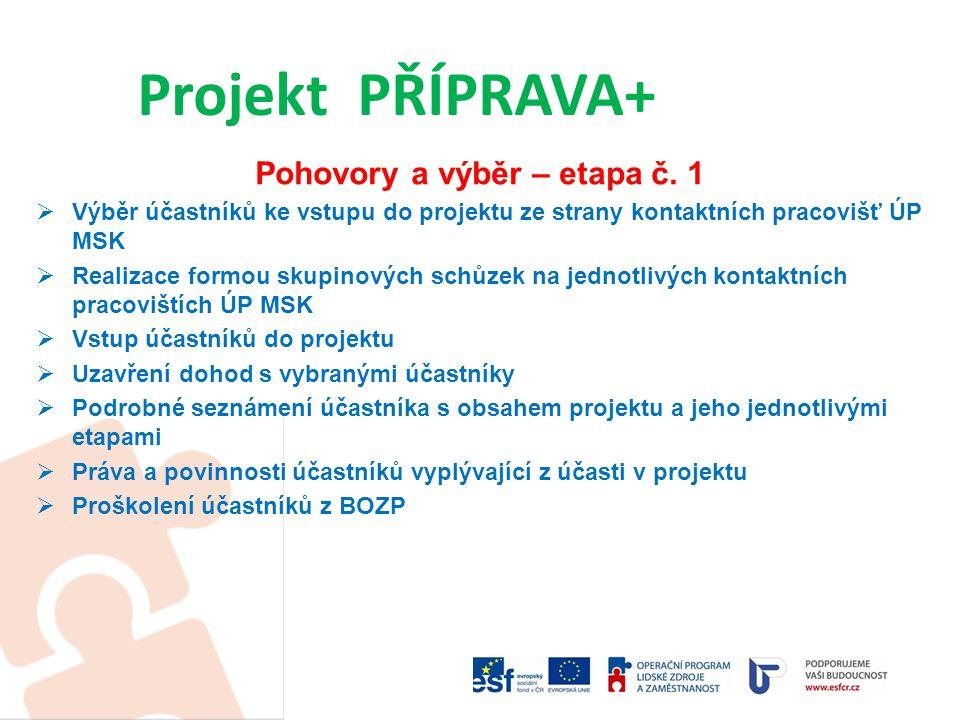 Vstupy do projektu dle jednotlivých okresů Projekt PŘÍPRAVA+ úkol-orientačnískutečnost k 31.