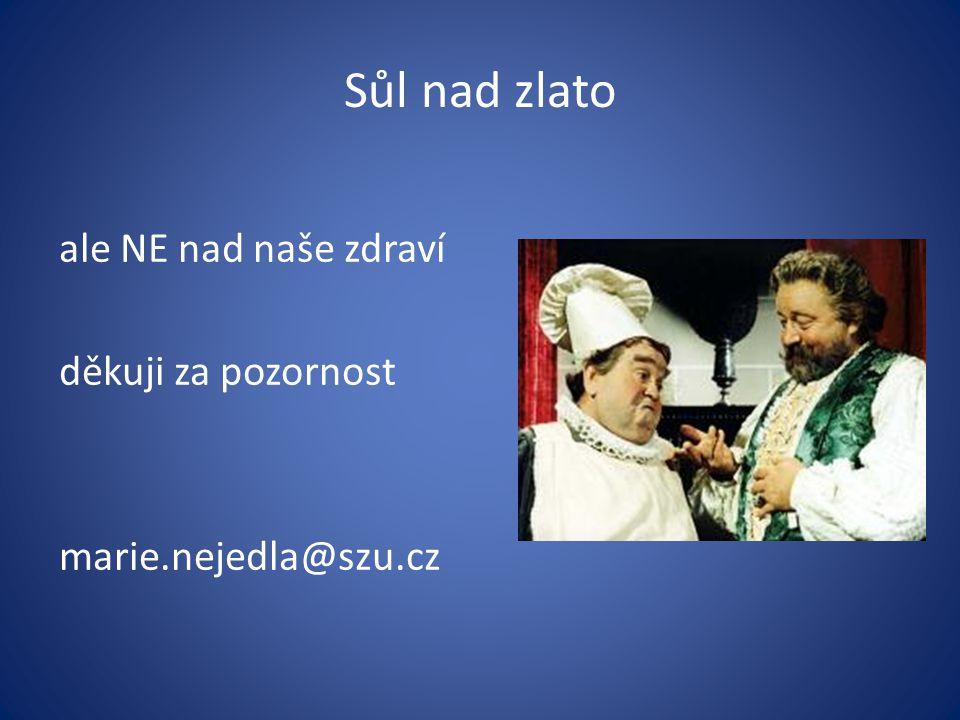 Sůl nad zlato ale NE nad naše zdraví děkuji za pozornost marie.nejedla@szu.cz