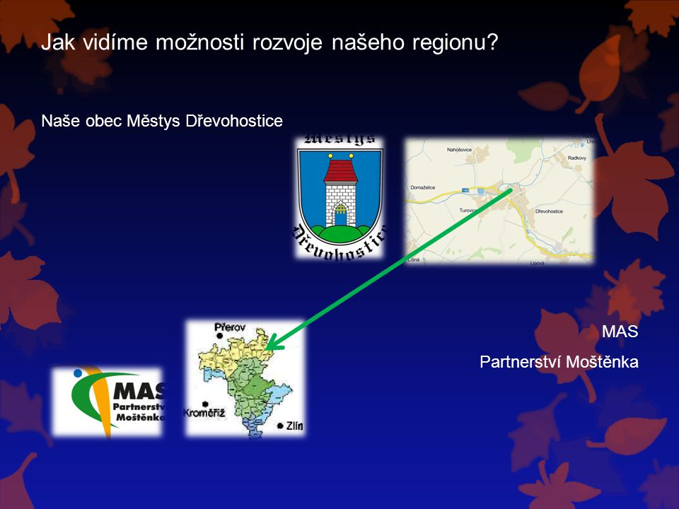 Jak vidíme možnosti rozvoje našeho regionu? Naše obec Městys Dřevohostice MAS Partnerství Moštěnka