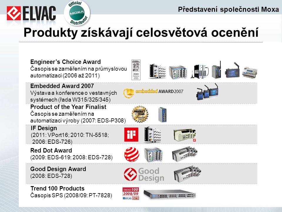 Produkty získávají celosvětová ocenění Engineer's Choice Award Časopis se zaměřením na průmyslovou automatizaci (2006 až 2011) Embedded Award 2007 Výs