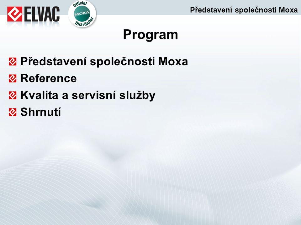 Program Představení společnosti Moxa Reference Kvalita a servisní služby Shrnutí Představení společnosti Moxa