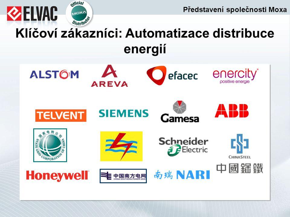 Klíčoví zákazníci: Automatizace distribuce energií Představení společnosti Moxa