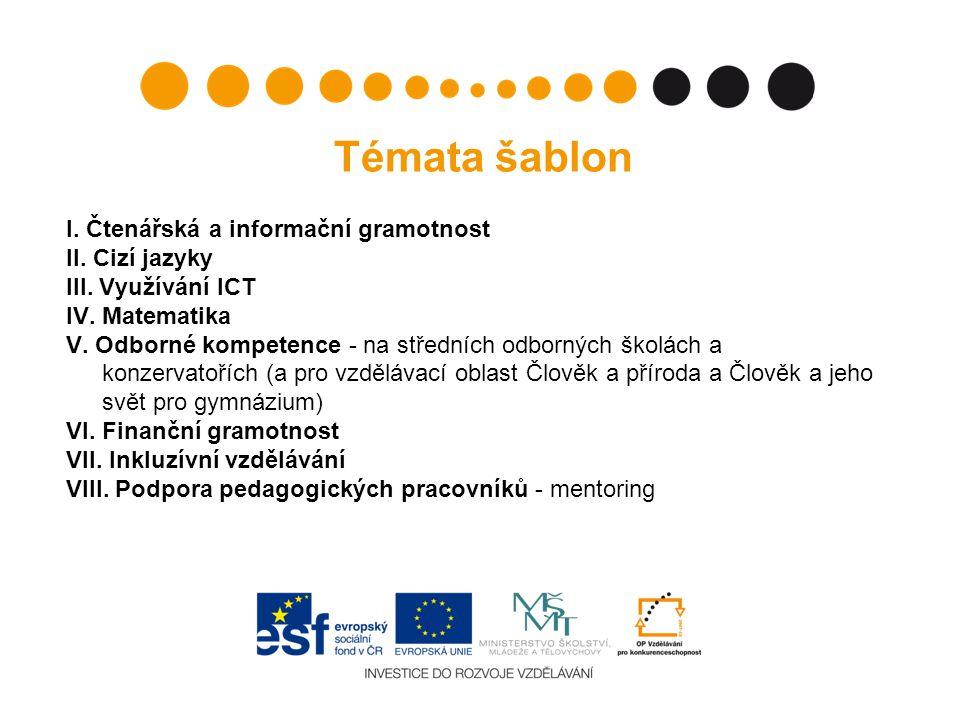 Témata šablon I.Čtenářská a informační gramotnost II.