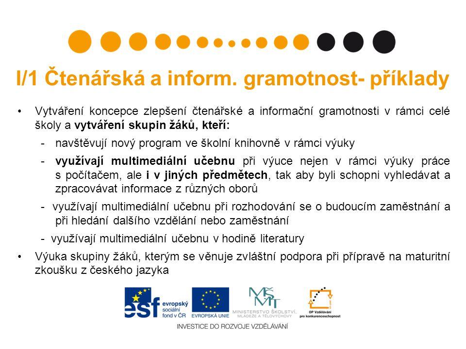I/1 Čtenářská a inform.