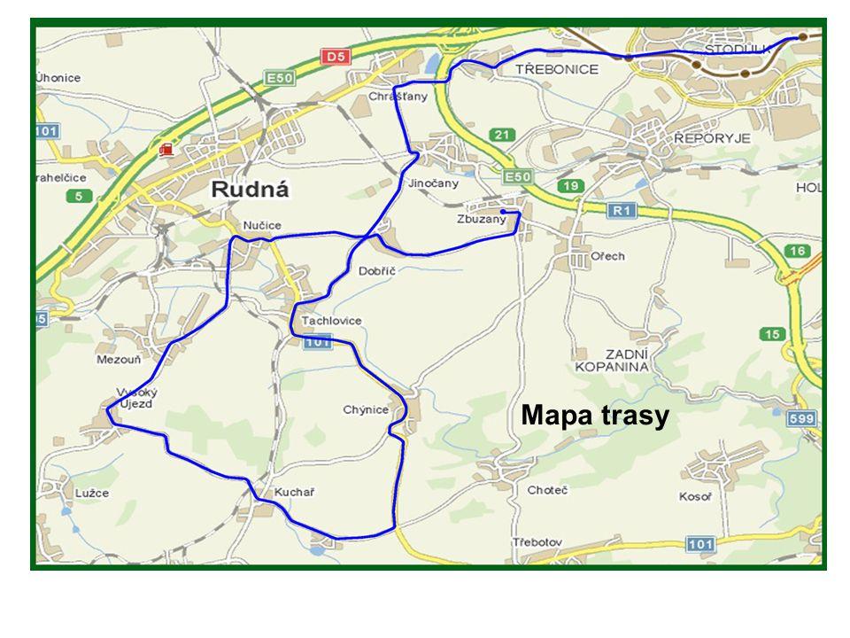 Cesta od metra Stodůlky do Třebonic
