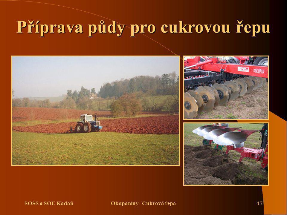 SOŠS a SOU KadaňOkopaniny - Cukrová řepa17 Příprava půdy pro cukrovou řepu