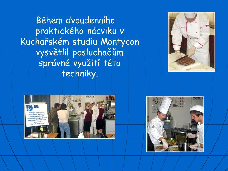 Lektorem kurzu byl pan Zdeněk Voznica, bývalý šéfkuchař Grandhotelu Pupp v Karlových Varech a Hotelu Atom.