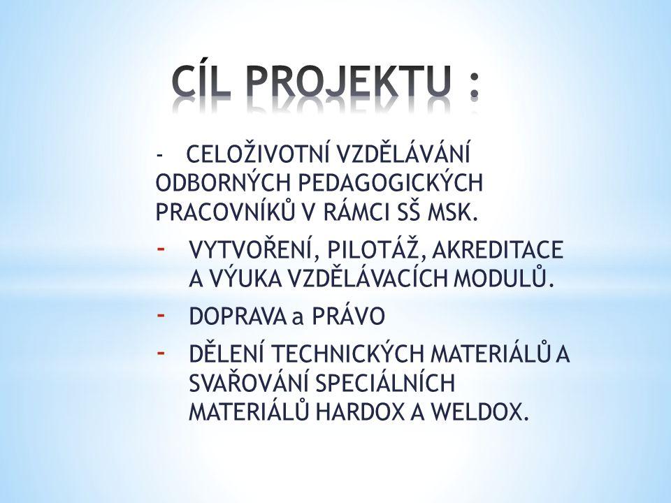 - CELOŽIVOTNÍ VZDĚLÁVÁNÍ ODBORNÝCH PEDAGOGICKÝCH PRACOVNÍKŮ V RÁMCI SŠ MSK.