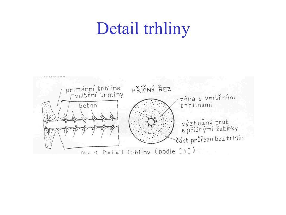 Detail trhliny