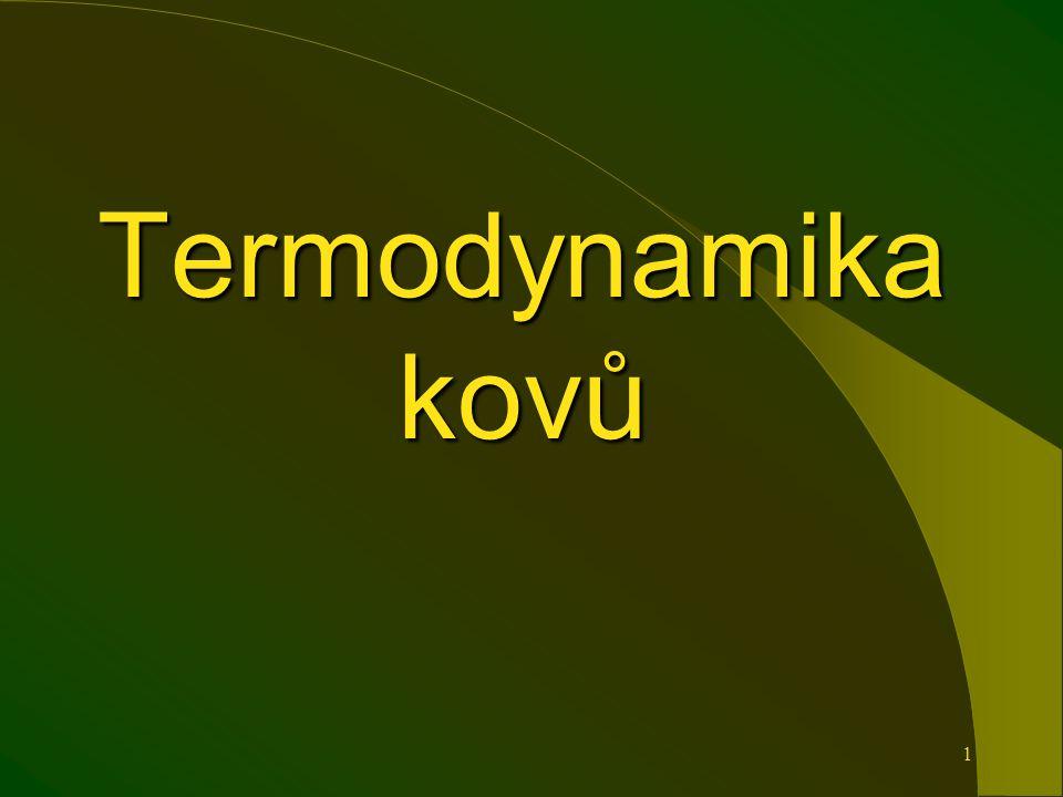 1 Termodynamika kovů