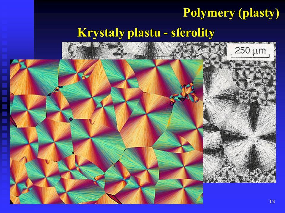 13 Krystaly plastu - sferolity Polymery (plasty)