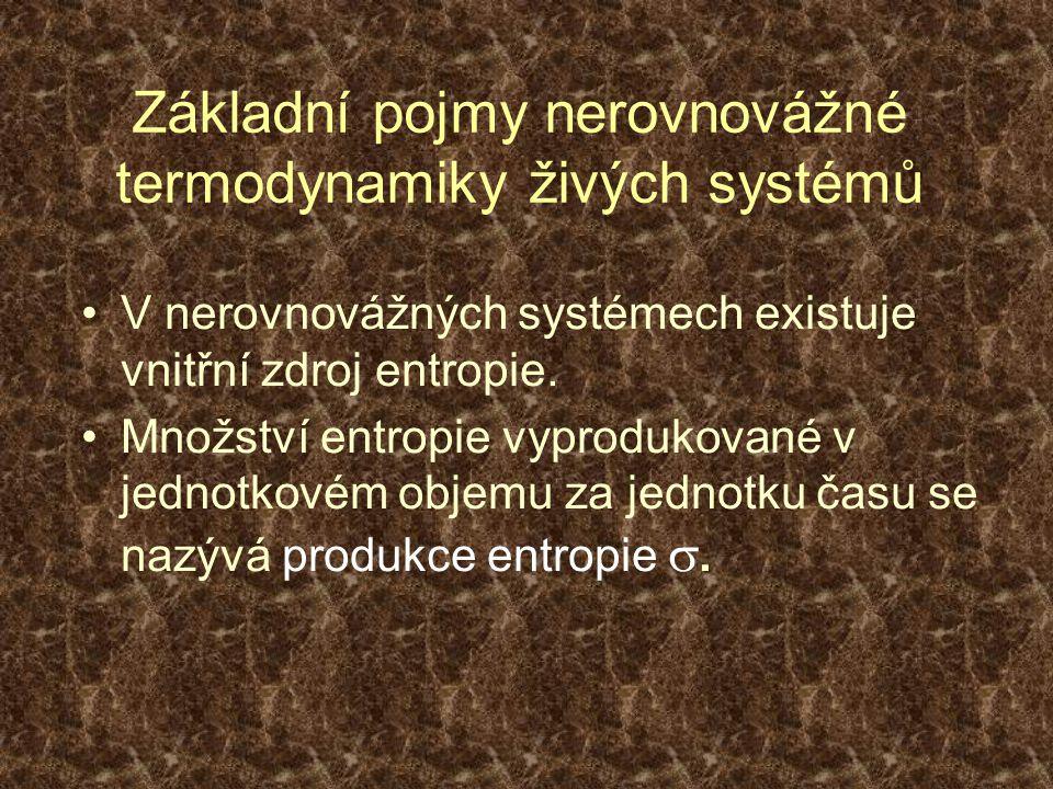 Prigoginův princip Pro stavy nepříliš vzdálené od tmd.