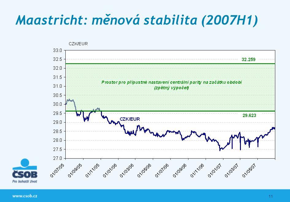 11 Maastricht: měnová stabilita (2007H1)