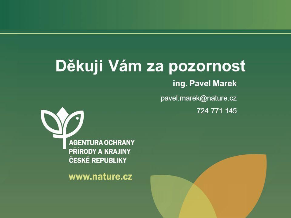 Děkuji Vám za pozornost ing. Pavel Marek pavel.marek@nature.cz 724 771 145