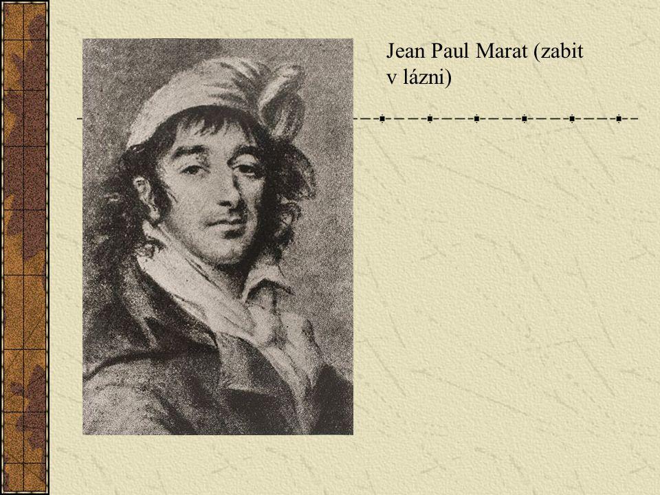 Jean Paul Marat (zabit v lázni)