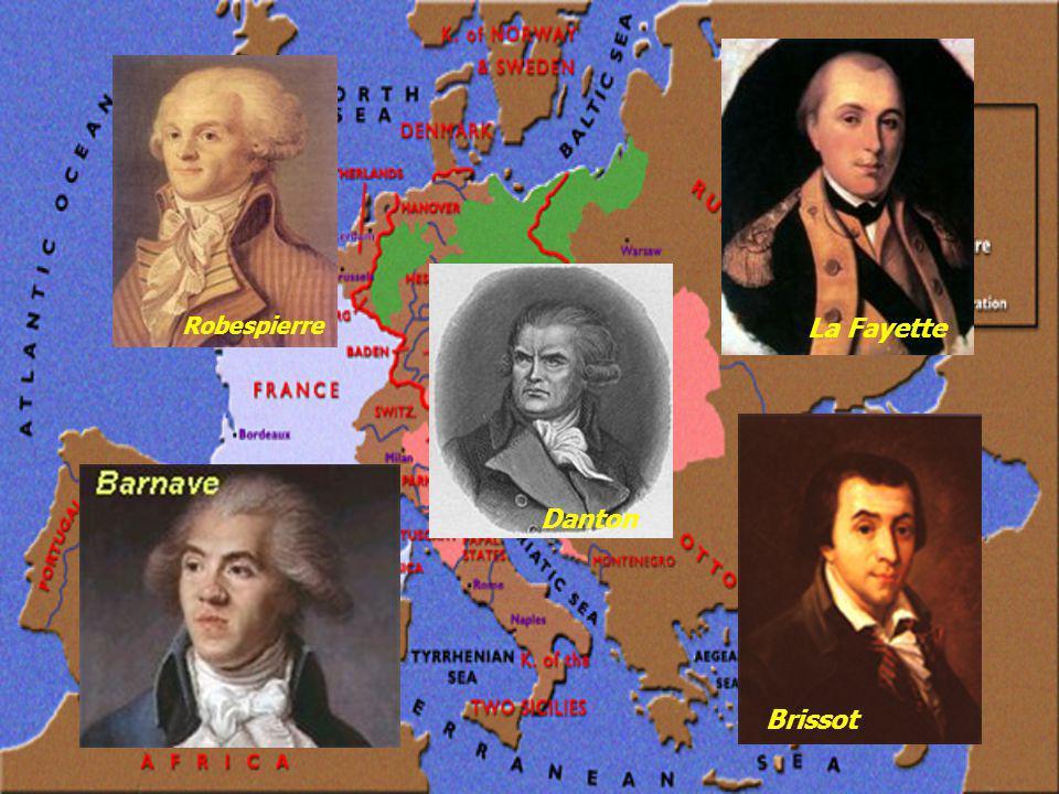 Robespierre La Fayette Brissot Danton