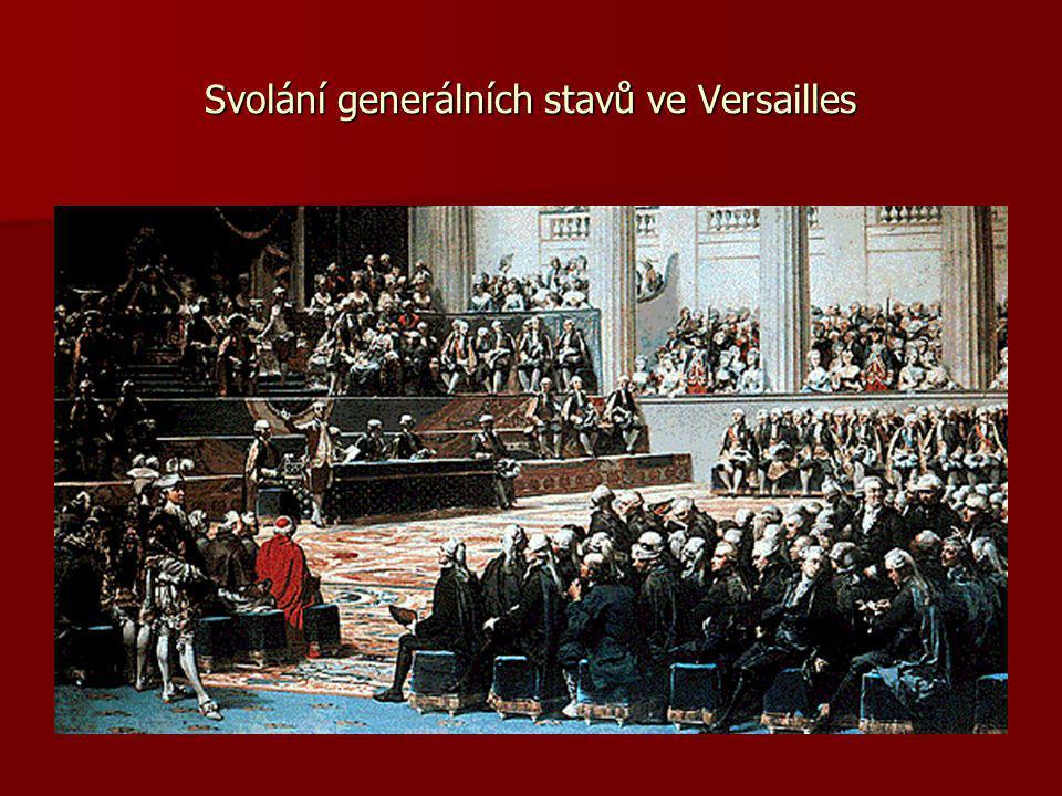 Svolání generálních stavů ve Versailles