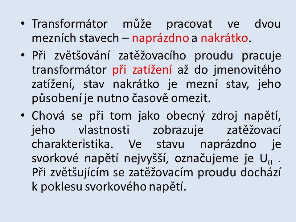 Zatěžovací charakteristika transformátoru