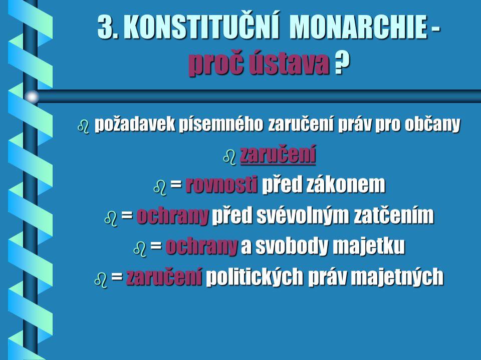 3.KONSTITUČNÍ MONARCHIE - proč ústava .