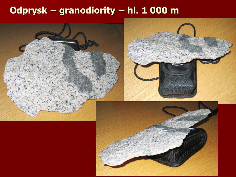 Odprysk – granodiority – hl. 1 000 m
