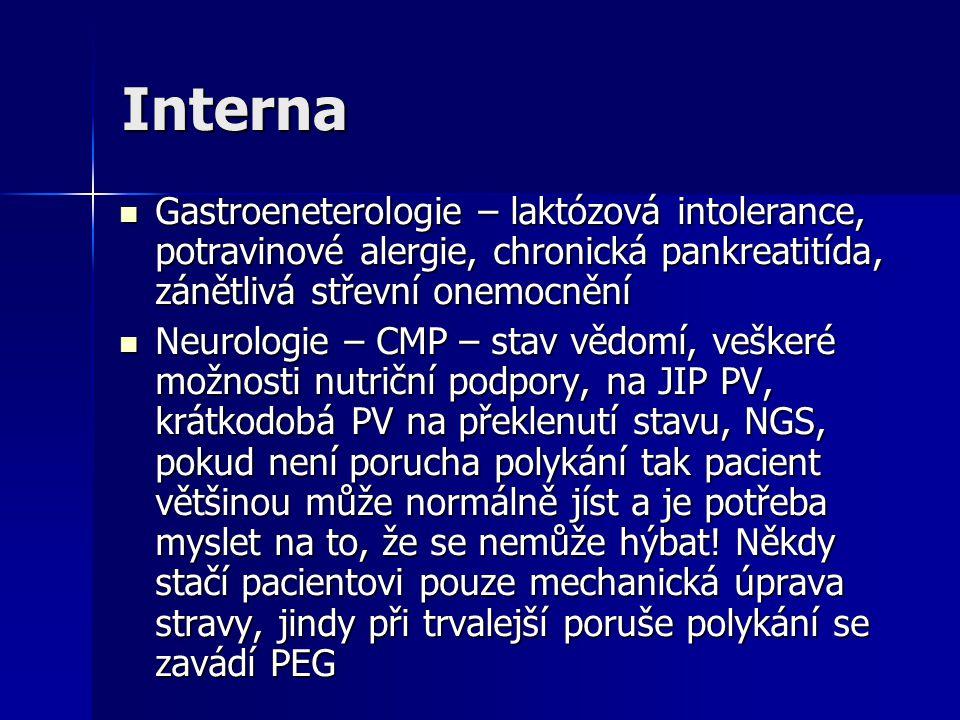 Interna Gastroeneterologie – laktózová intolerance, potravinové alergie, chronická pankreatitída, zánětlivá střevní onemocnění Gastroeneterologie – la