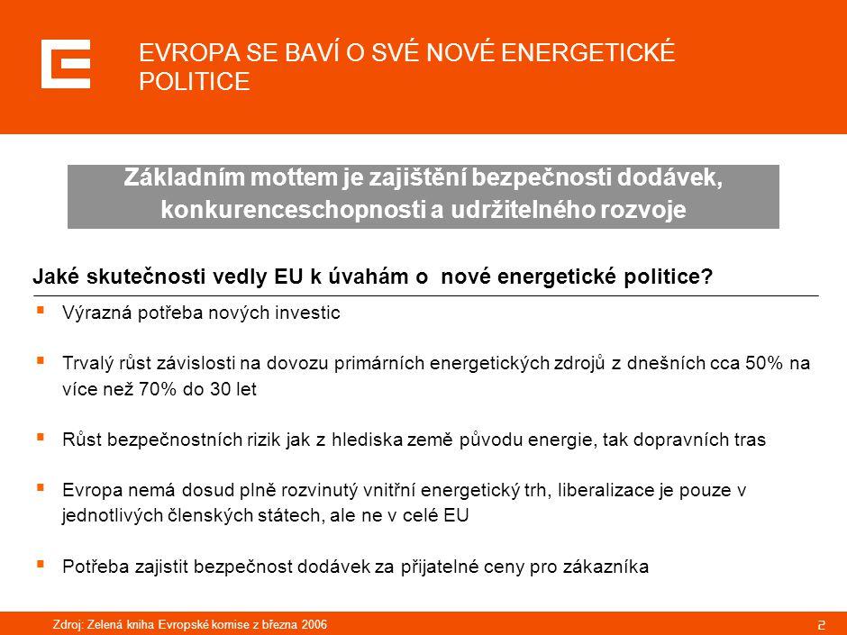 33 Instalovaný výkon hnědouhelných zdrojů ČEZ, a.s.
