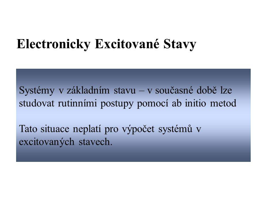 Popis systému: atomové orbitaly → molekulové orbitaly  vlnová funkce popsána Slaterovým determinantem (antisymetričnost vzhledem k záměně elektronů)  Elektrony obsazují molekulové orbitaly se vzrůstající energií Většinu systémů v základním stavu lze popsat pouze jedním Slaterovým determinantem - HF metoda