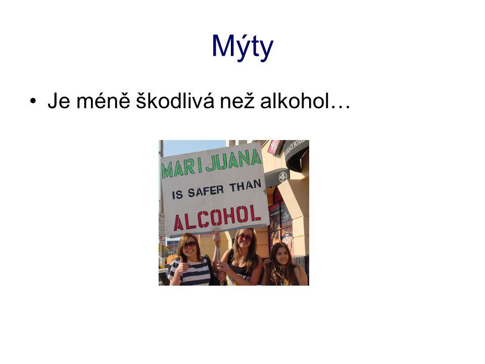 Mýty Je méně škodlivá než alkohol…