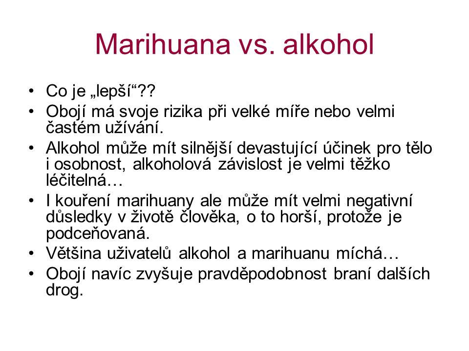 """Marihuana vs.alkohol Co je """"lepší ?."""