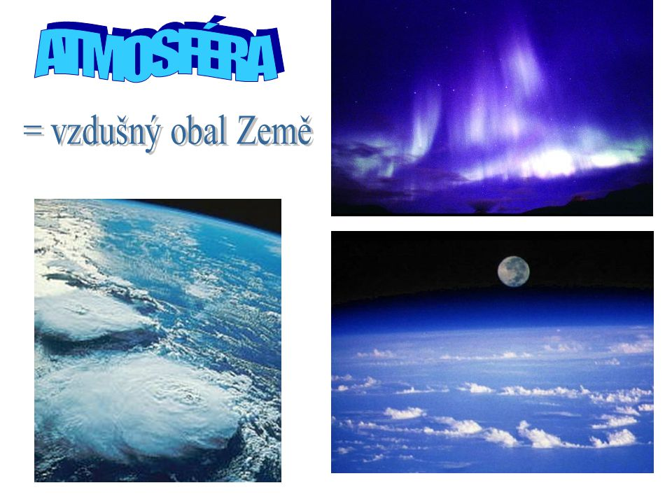 5.VÍTR = pohyb vzduchu podél zemského povrchu.Vítr je charakterizován rychlostí a směrem.