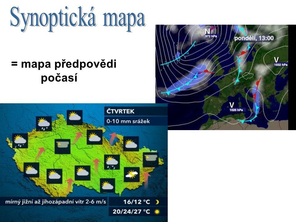 = mapa předpovědi počasí