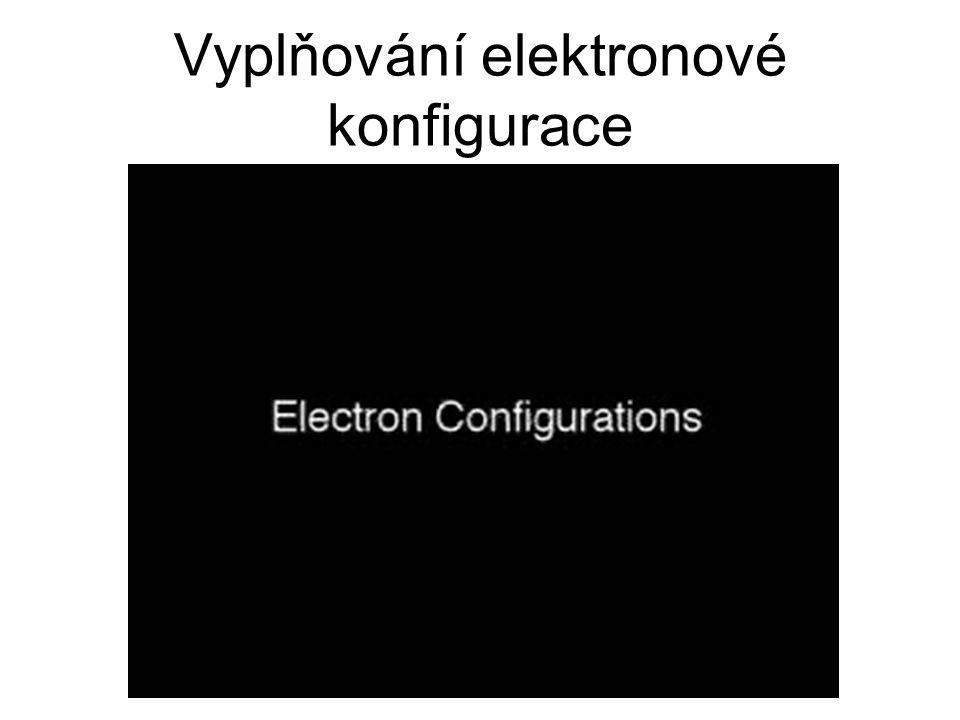 Vyplňování elektronové konfigurace
