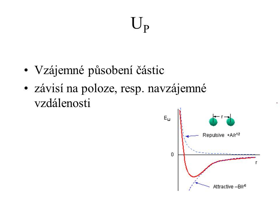 UPUP Vzájemné působení částic závisí na poloze, resp. navzájemné vzdálenosti