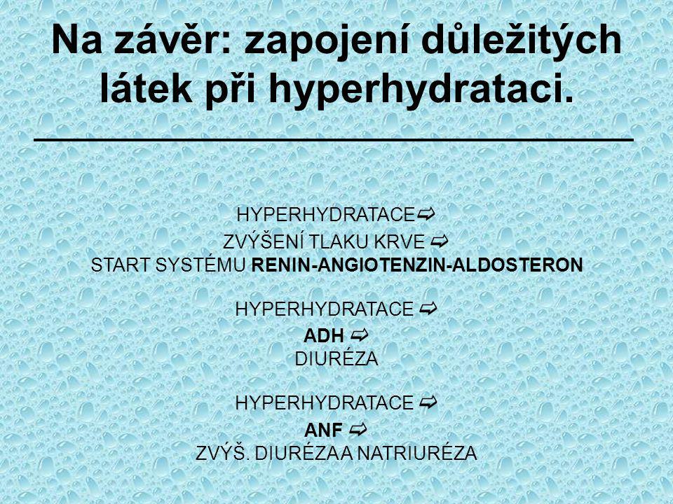 Na závěr: zapojení důležitých látek při hyperhydrataci.