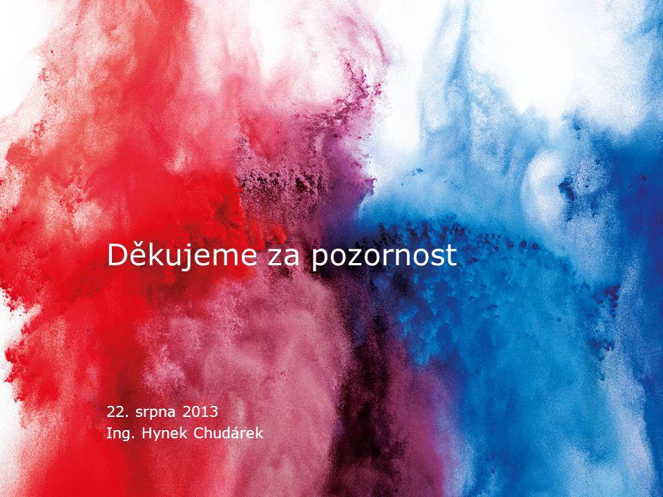 Strana 15 22. srpna 2013 www.ceskatelevize.cz Děkujeme za pozornost 22. srpna 2013 Ing. Hynek Chudárek