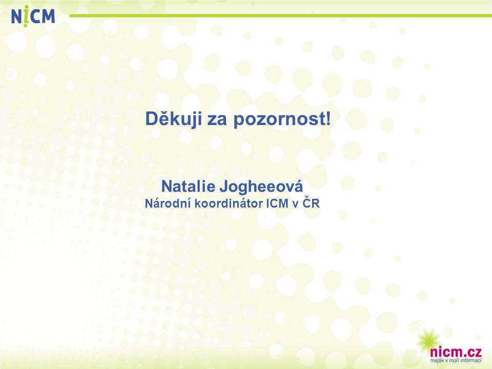 Děkuji za pozornost! Natalie Jogheeová Národní koordinátor ICM v ČR