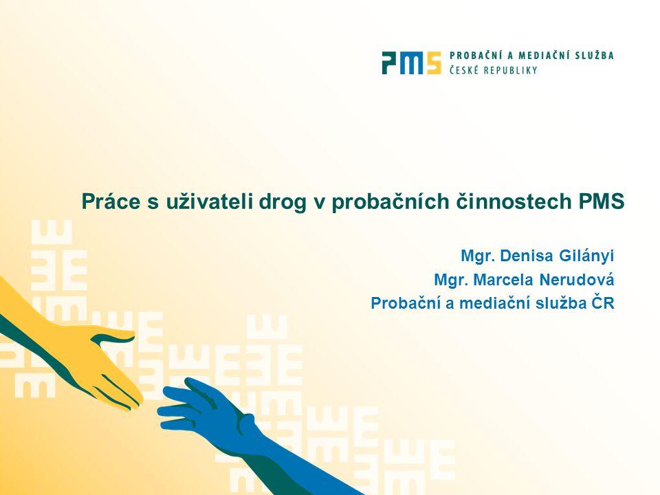 Práce s uživateli drog v probačních činnostech PMS Mgr. Denisa Gilányi Mgr. Marcela Nerudová Probační a mediační služba ČR