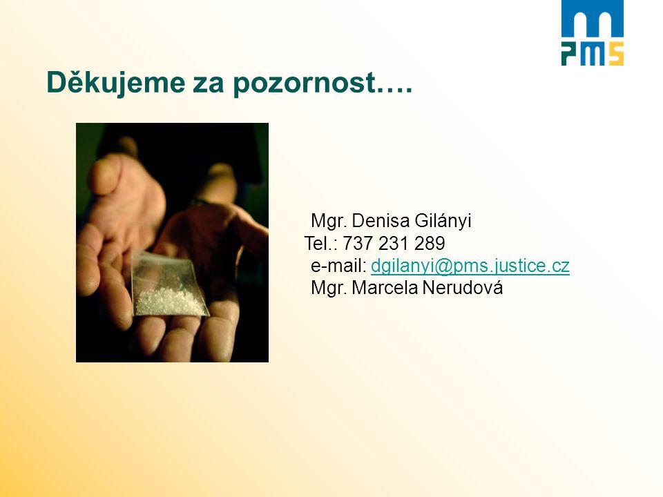 Děkujeme za pozornost…. Mgr. Denisa Gilányi Tel.: 737 231 289 e-mail: dgilanyi@pms.justice.czdgilanyi@pms.justice.cz Mgr. Marcela Nerudová