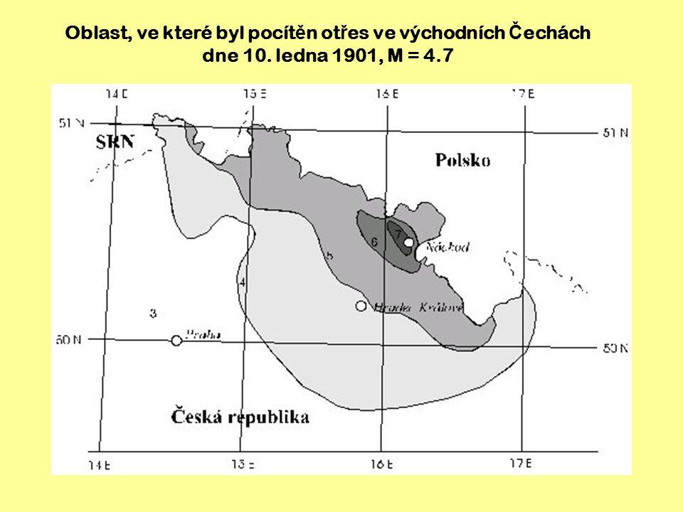 Zem ě t ř esení ve východních Č echách 25. ř íjna 2005, M = 3.4