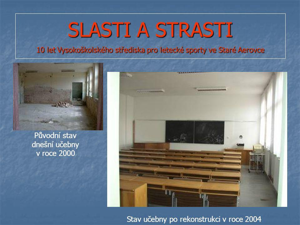 SLASTI A STRASTI 10 let Vysokoškolského střediska pro letecké sporty ve Staré Aerovce Původní stav dnešní učebny v roce 2000 Stav učebny po rekonstrukci v roce 2004