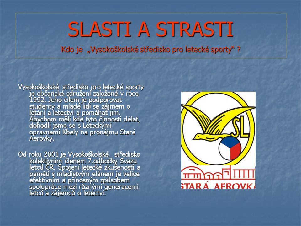 """SLASTI A STRASTI Kdo je """"Vysokoškolské středisko pro letecké sporty ."""